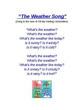 ELL Calendar & Weather Songs by Miss Diez- ENL   TpT