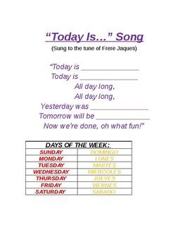ELL Calendar & Weather Songs