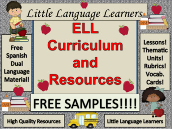 ELL Curriculum and Resources Free Samples