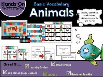 ELL / ESL Hands-on Intervention: Animals