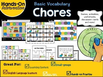 ELL / ESL Hands-on Intervention: Chores