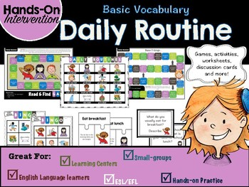 ELL / ESL Hands-on Intervention: Daily Routines