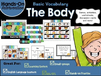 ELL / ESL Hands-on Intervention: The Body