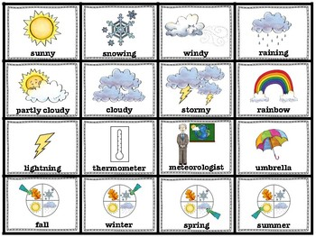 ELL / ESL Hands-on Intervention: Weather and Seasons