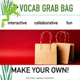 Vocabulary Grab Bag Game Make Your Own