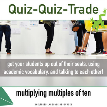 Multiplying Multiples of Ten Quiz Quiz Trade Game