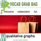 Qualitative Graphs Vocab Vocabulary Grab Bag Game