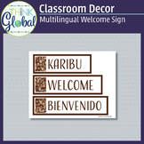 Classroom Decor - Multilingual Welcome Sign (Swahili, Engl