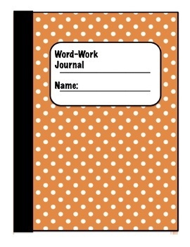 ELL/ESL Word-Work Interactive Notebook/Journal