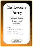 ELL Halloween Party Conversation and Invitations (I want to~)