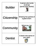 ELL Kindergarten Social Studies Vocabulary Flashcards