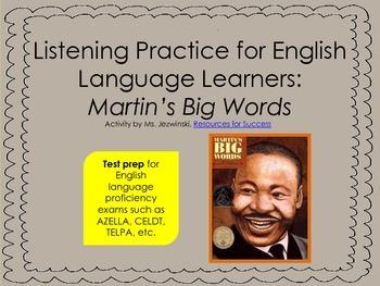 ELL Listening Practice:  Martin's Big Words