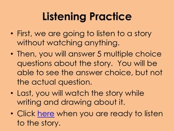 ELL Listening Practice:  Romeow and Drooliet