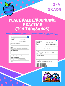ELL  Math Practice: Place Value and Rounding Pack 3