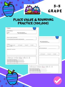 ELL Math Practice Place Value and Rounding Pack 4