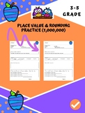 ELL Math Practice Rounding and Place Value Pack 5
