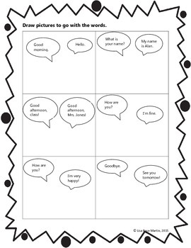 ELL Newcomer Activities for Independent Practice