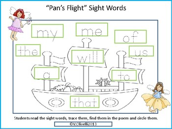 ELL Newcomer Activity- A Fairy Tale: Pan's Flight