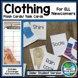 ELL Newcomer Clothing Vocabulary Task Cards for Older Students
