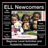 ESL Newcomers' Beginner Academic  Vocabulary/Grammar & Assessment Bundle-SIFE