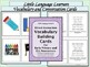 ELL Newcomers Beginner Level Language Work-ESL Activities and Assessment Kit