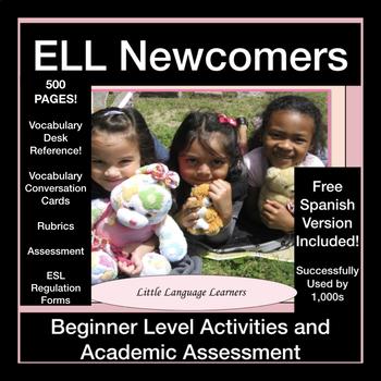ESL Newcomers' Activities, Beginner Level Work + Academic