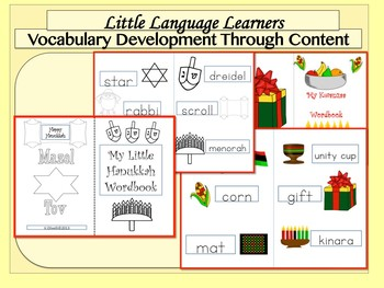 ELL Activities:  Holiday Bundle Building Vocabulary and Basic Literacy Skills