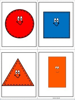 ESL Vocabulary Cards Shapes and Numbers An ESL Activity - ELL Newcomers Too