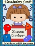 ESL Resources- Vocabulary Cards Shapes and Numbers- ELL Newcomers