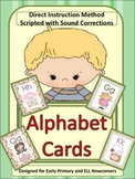 ESL Activity:  Newcomers and Early Primary Letter/Sound Cards with Script