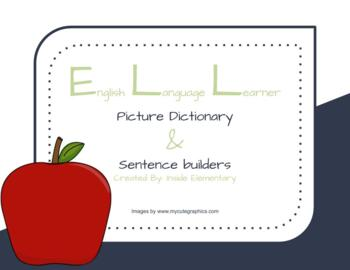 ELL Picture Dictionary and Sentence Builders