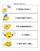 ELL Reading Sentence Starters