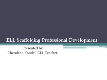 ELL Scaffolding Professional Development