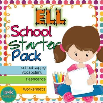 ELL School Vocabulary & Activites