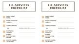 ELL Services Checklist