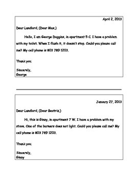 ELL Short Correspondence Letters and Invitations