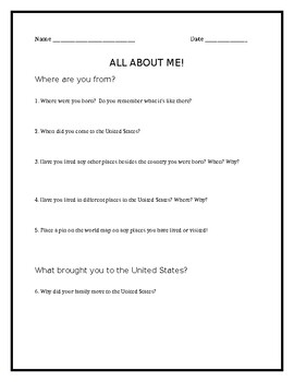 ELL Student Survey - Beginning of the Year