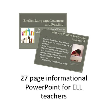 ELL Teacher Bundle: Resources for Teachers and Parents (In English & Spanish)