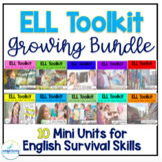 ELL Vocabulary Flashcards: 10 Mini Units for English Survival Skills (ESL)