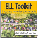 ELL Toolkit: Unit 5, Around Town {A Mini Unit for English Survival Skills}