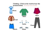 ELL Vocabulary Activities - Clothing