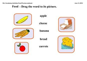ELL Vocabulary Activities - Food