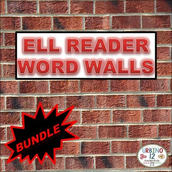 ELL WORD WALLS FOR PEARSON READERS