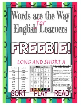 ELL Word Work for Long and Short A