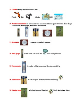 ELL lesson plan for Weather, Fronts and Weather Instruments - With Video