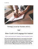 ELL or resource room Lesson in Writing Expository Pieces