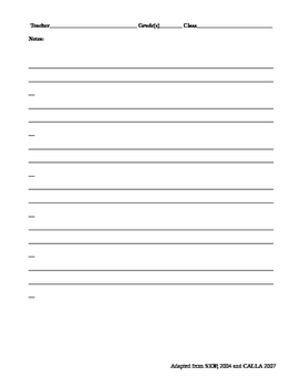 ELL teacher self-assessment tool