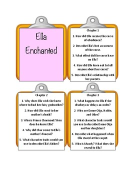ELLA ENCHANTED By Gail Carson Levine * Discussion Cards