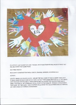 ELL/ESL STUDENTS ACTIVITY THAT IS SURE TO GET A SMILE!