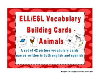 ESL Vocabulary Cards - Animals